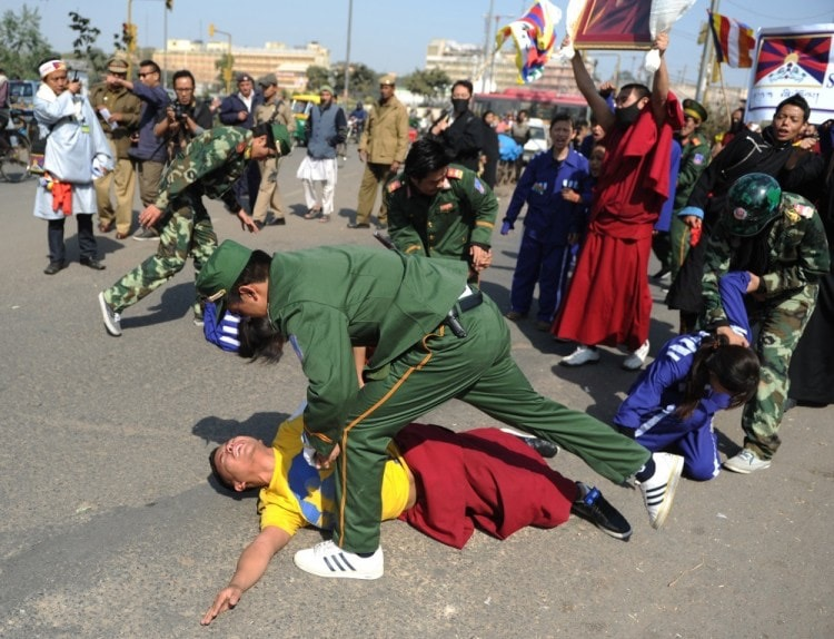 These are powerful images of #Tibetans rioting.