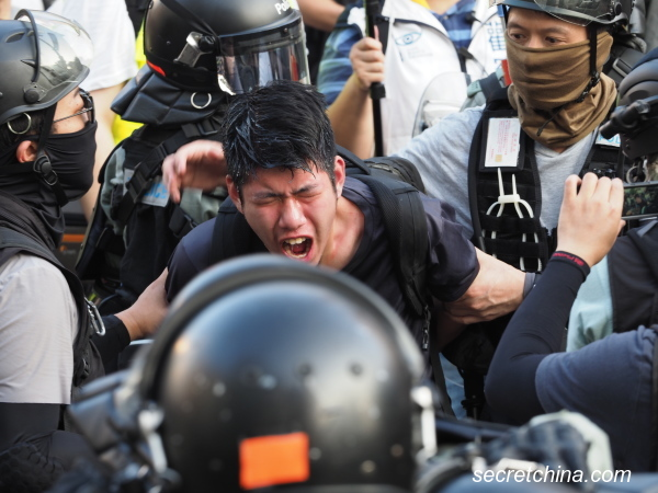 Hong Kong Police Slam Teargas Bombs Into Residential  Buildings